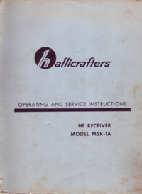 Hallicrafters MSR-1A